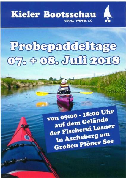 Probepaddeltage Kieler Bootsschau 07.07-08.07.2018