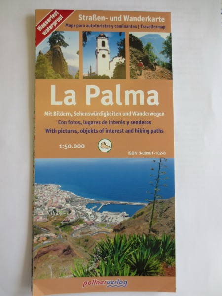 La Palma Straßen und Wanderkarte